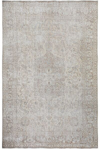 Floral Medallion Muted Persian Distressed Tabriz Area Rug 10x12