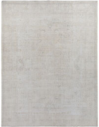 Floral Tabriz Muted Persian Distressed Area Rug 9x12