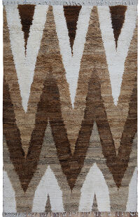 Chevron Plush Shaggy Moroccan Area Rug 6x9
