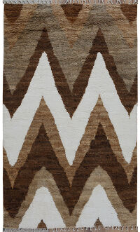 Thick Plush Chevron Moroccan Area Rug 5x8