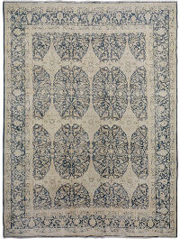 Muted Kerman Persian Distressed  Area Rug 10x12