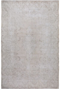 Muted Antique Floral Kerman Persian Distressed Area Rug 10x13