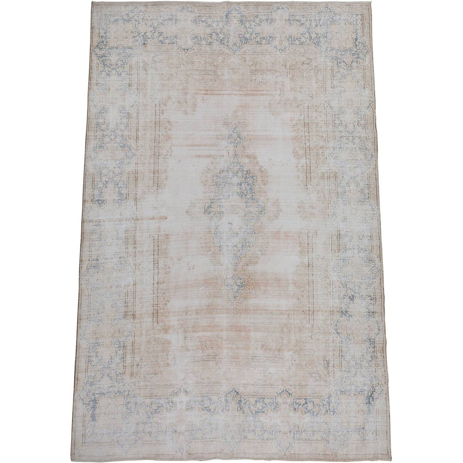 Distressed Antique Kerman Persian Muted Area Rug 10x13 image 2