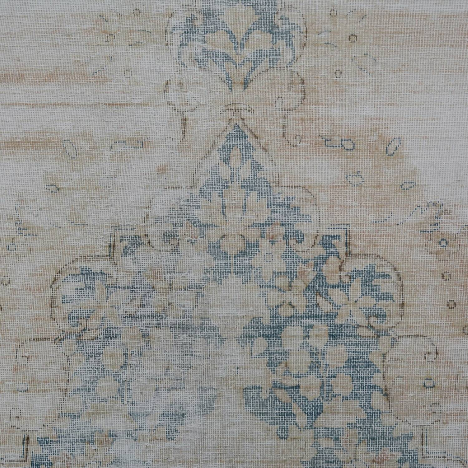 Distressed Antique Kerman Persian Muted Area Rug 10x13 image 4