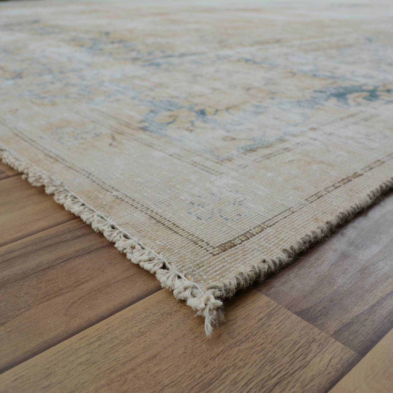 Distressed Antique Kerman Persian Muted Area Rug 10x13 image 6