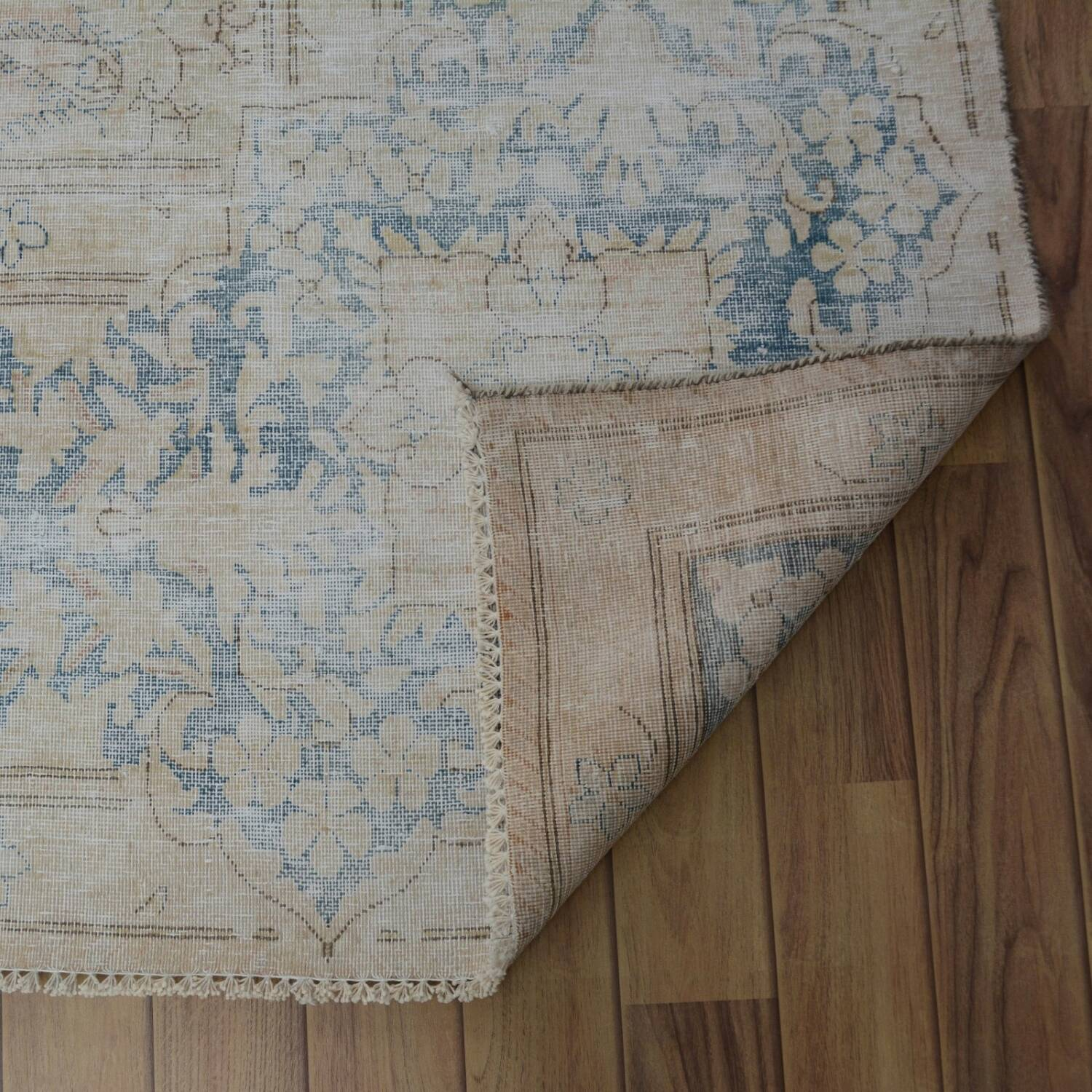 Distressed Antique Kerman Persian Muted Area Rug 10x13 image 7