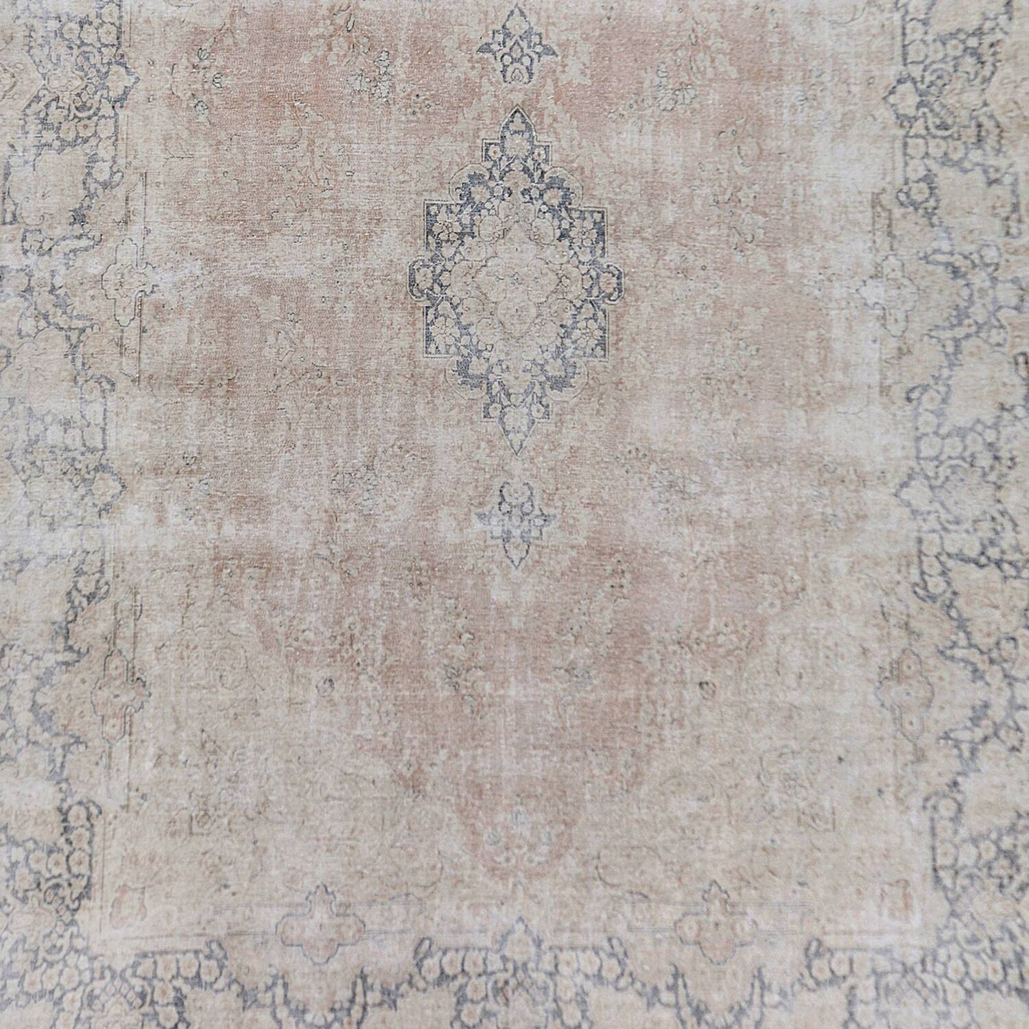 Antique Distressed Floral Kerman Persian Muted Area Rug 10x13 image 3