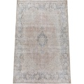 Antique Distressed Floral Kerman Persian Muted Area Rug 10x13 image 2