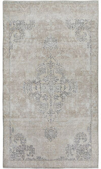 Antique Floral Medallion Tabriz Persian Distressed Area Rug 5x9