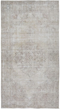 Antique Floral Medallion Tabriz Persian Distressed Area Rug 6x10