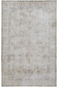 Antique Floral Tabriz Distressed  Persian Muted Area Rug 6x9