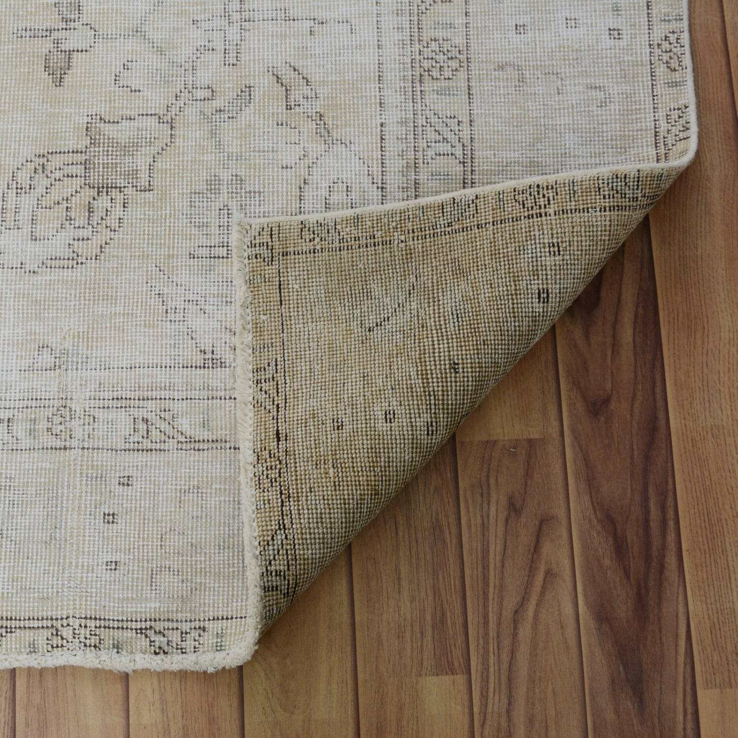 Antique Floral Tabriz Distressed  Persian Muted Area Rug 6x9 image 6