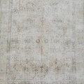 Antique Floral Tabriz Distressed  Persian Muted Area Rug 6x9 image 3