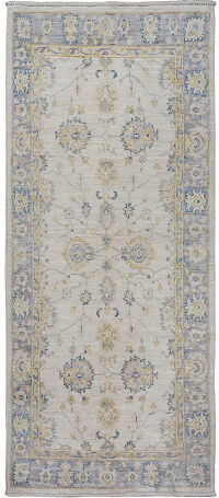Floral All-Over Oushak Turkish Area Rug 3x6