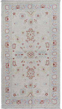 Floral Oushak Turkish Area Rug 3x5