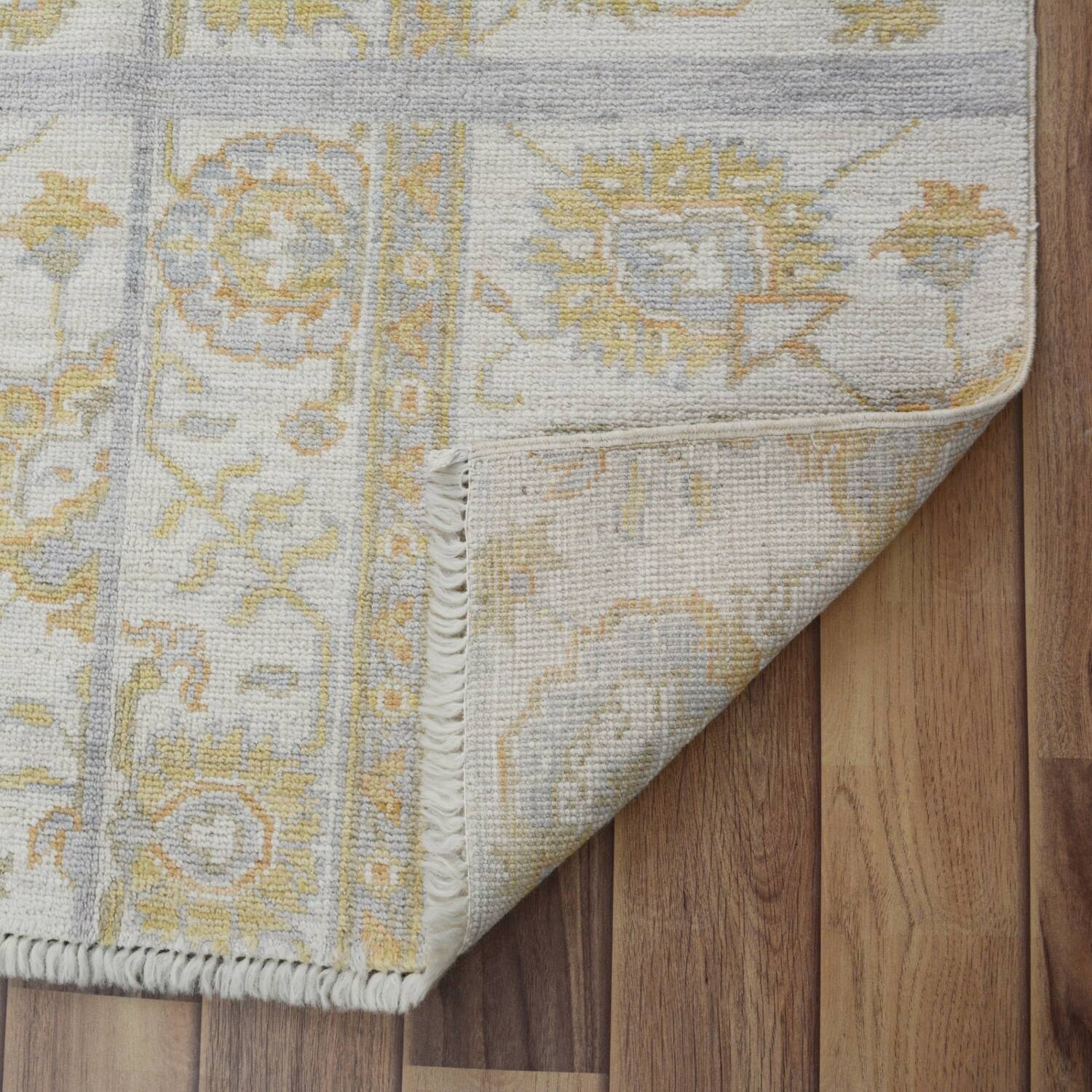 Floral All-Over Oushak Turkish Area Rug 3x4 image 6