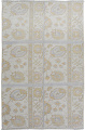 Floral All-Over Oushak Turkish Area Rug 3x4 image 1