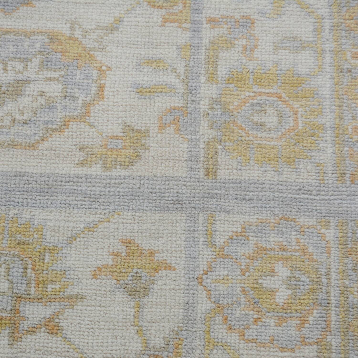 Floral All-Over Oushak Turkish Area Rug 3x4 image 4