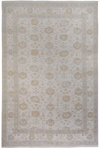 All-Over Vegetable Dye Muted Oushak Turkish Area Rug 11x17