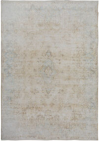 Antique Muted Kerman Persian Distressed Area Rug 10x13