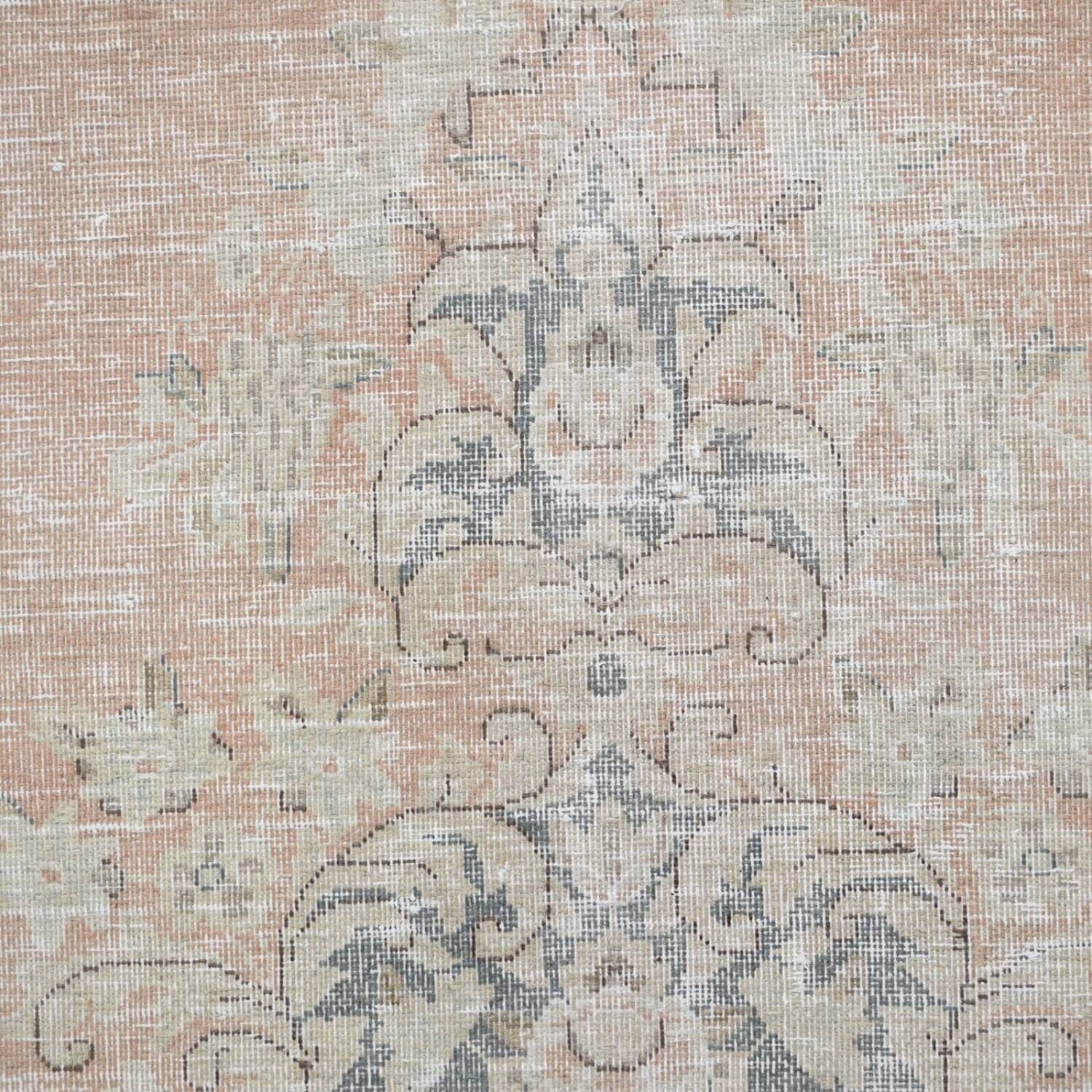 Antique Distressed Floral Kerman Persian Muted Area Rug 10x13 image 4