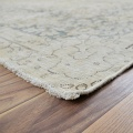 Antique Distressed Floral Kerman Persian Muted Area Rug 10x13 image 6