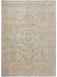 Antique Floral Kerman Persian Distressed Area Rug 10x13