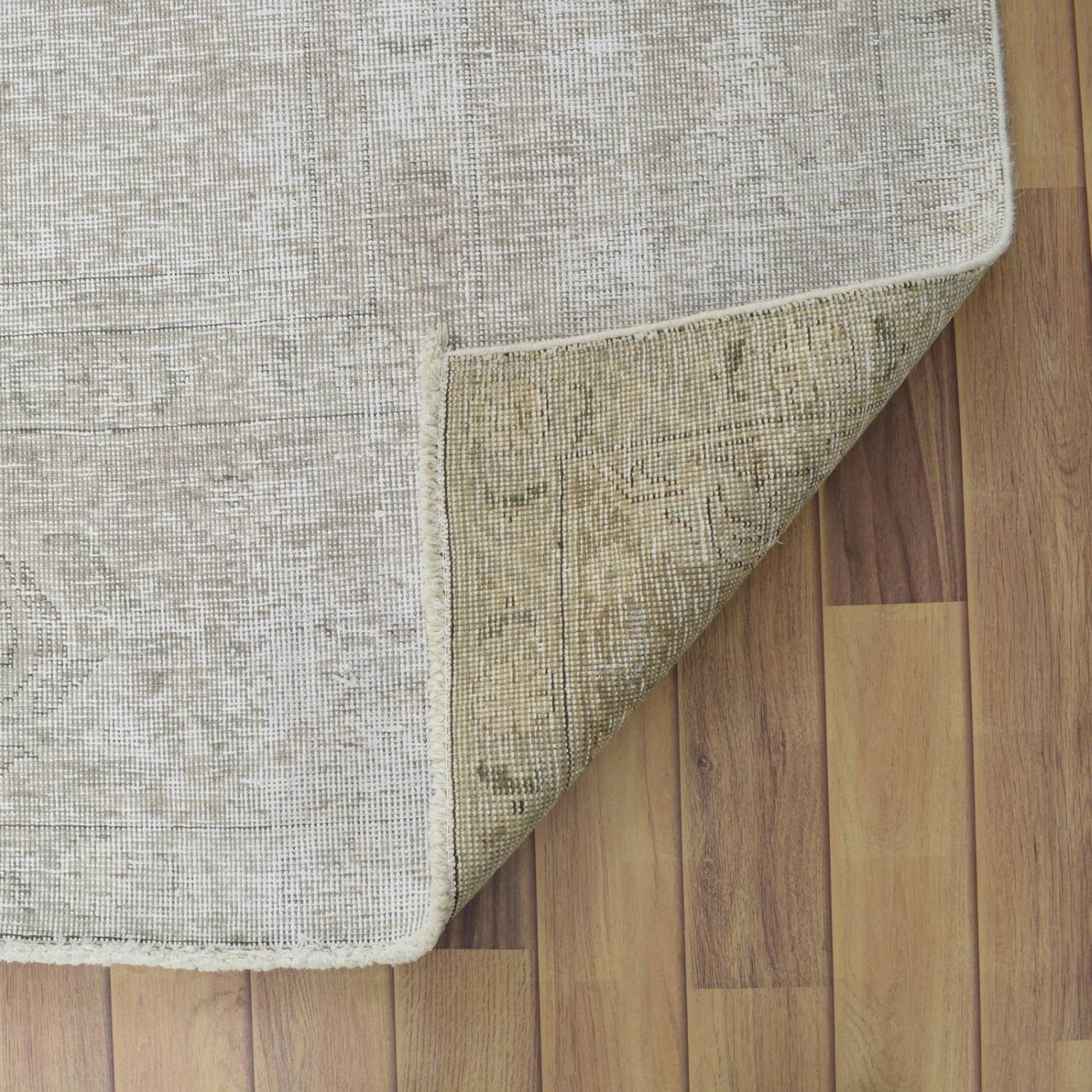 Antique Floral Muted Tabriz Persian Distressed Area Rug 9x12 image 7