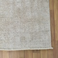 Antique Floral Muted Tabriz Persian Distressed Area Rug 9x12 image 5