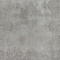 Antique Muted Floral Tabriz Persian Distressed Area Rug 9x13 image 3