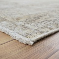 Antique Muted Floral Tabriz Persian Distressed Area Rug 9x13 image 6