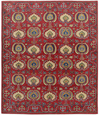 All-Over Art & Craft Super Kazak Oriental Red Area Rug 8x10