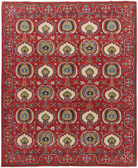 Geometric Super Kazak Oriental Red Area Rug 8x10