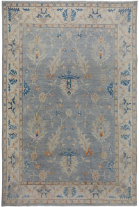 All-Over Floral Oushak Turkish Oriental Area Rug 9x12