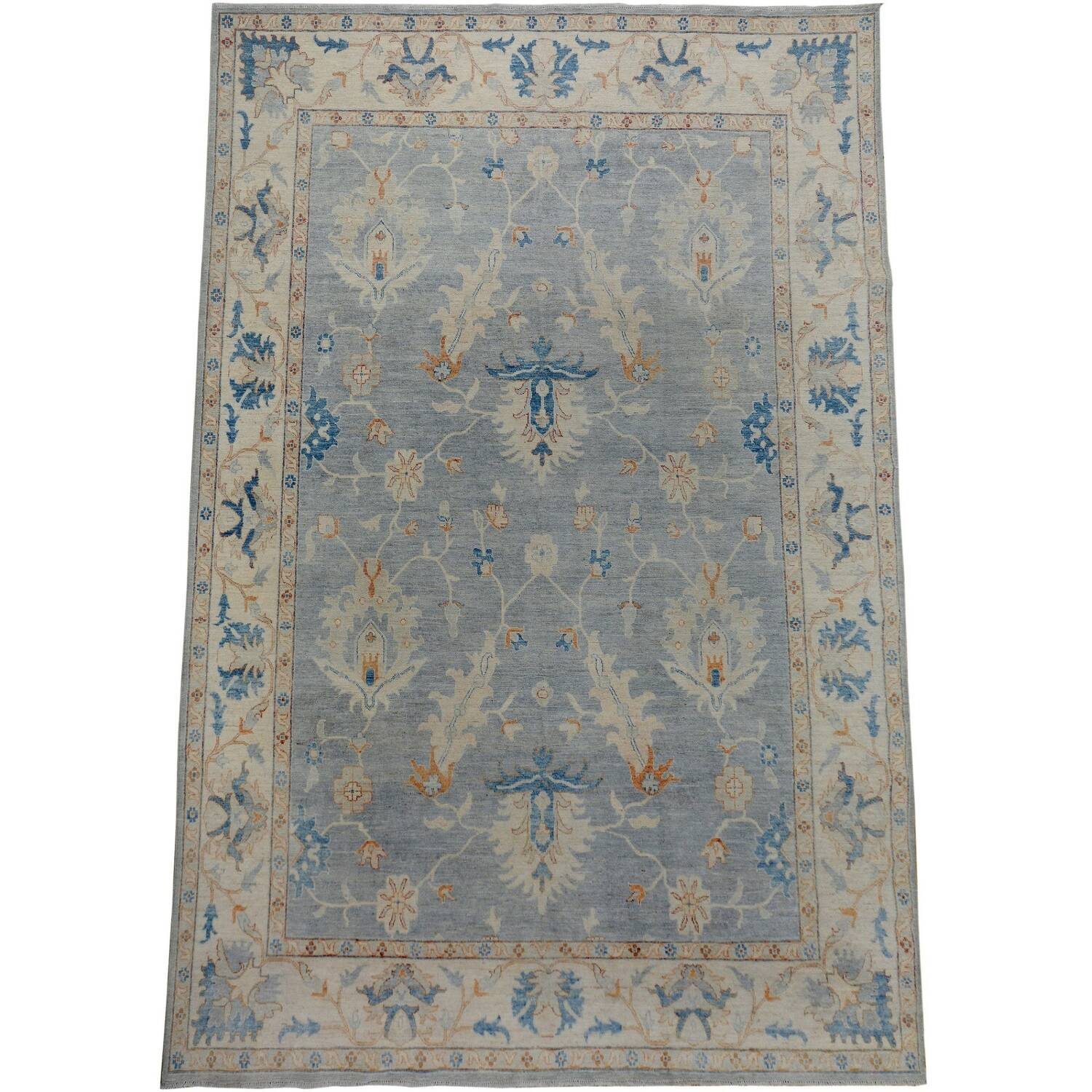 All-Over Floral Oushak Turkish Oriental Area Rug 9x12 image 2