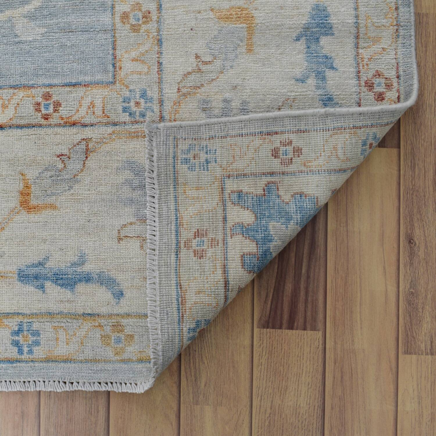 All-Over Floral Oushak Turkish Oriental Area Rug 9x12 image 7