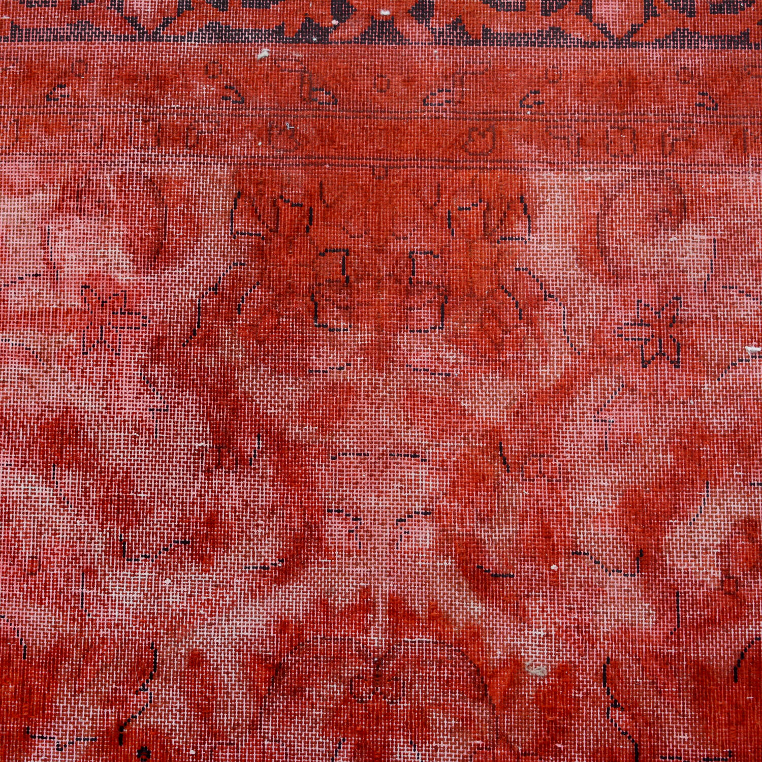 Antique Over Dyed Floral Kerman Persian Area Rug 7x9 image 4