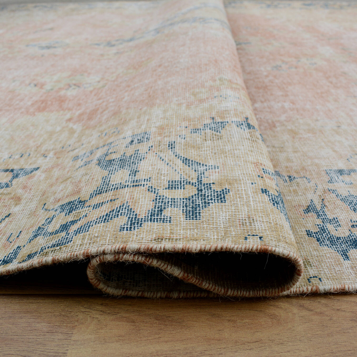 Antique Floral Muted Kerman Persian Area Rug 6x9 image 8