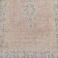Antique Floral Muted Kerman Persian Area Rug 6x9 image 3