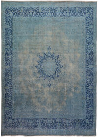Antique Over- dyed Tabriz Persian Area Rug 10x12