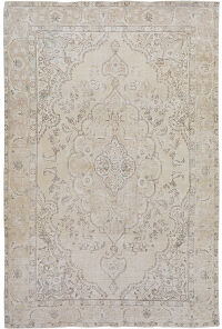 Muted Floral Tabriz Persian Area Rug 6x10