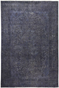 Antique Geometric Tabriz Persian Over Dyed Area Rug 10x12