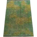 Antique Floral Tabriz Persian Over Dyed Area Rug 8x11 image 3
