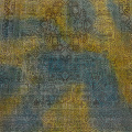 Antique Over Dyed Geometric Tabriz Persian Area Rug 10x13 image 3