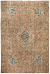 Antique Floral Tabriz Persian distressed Area Rug 10x13