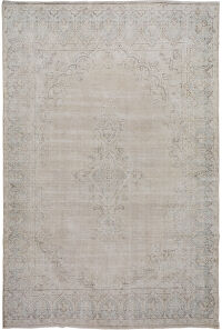 Antique Muted Kerman Persian Distressed Area Rug 9x12