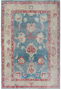 All Over Vegetable Dye Oushak Turkish Area Rug 9x12
