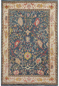 Vegetable Dye Floral Oushak Turkish Oriental Area Rug 9x12