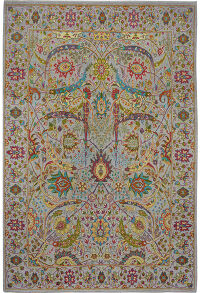 All-Over Vegetable Dye Oushak Turkish Area Rug 9x12