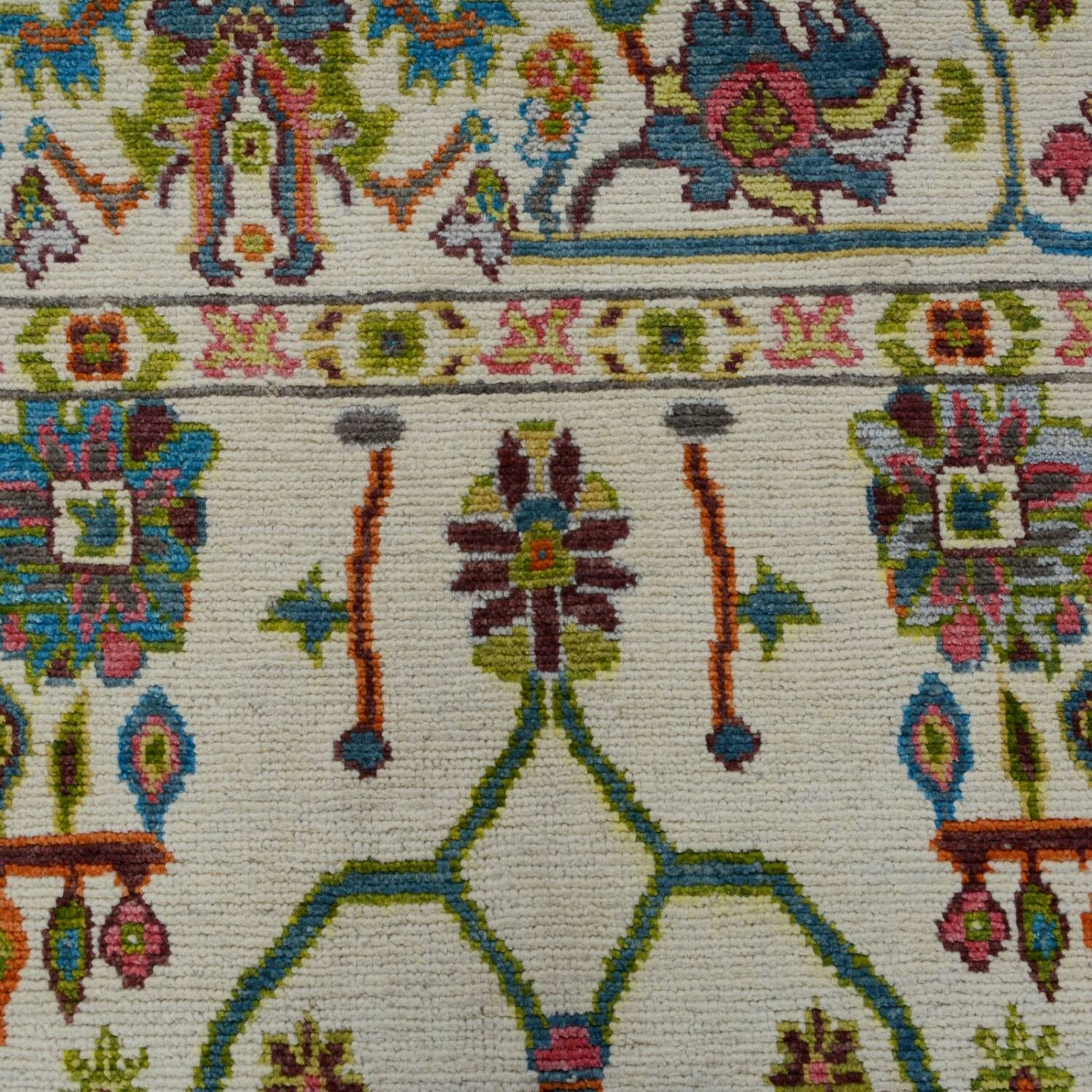 All-Oer Vegetable Dye Oushak Turkish Area Rug 6x9 image 4